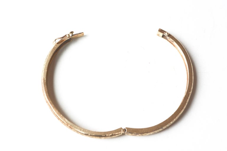 1970s 14 Karat Gold Bracelet In Good Condition For Sale In Roxbury, CT