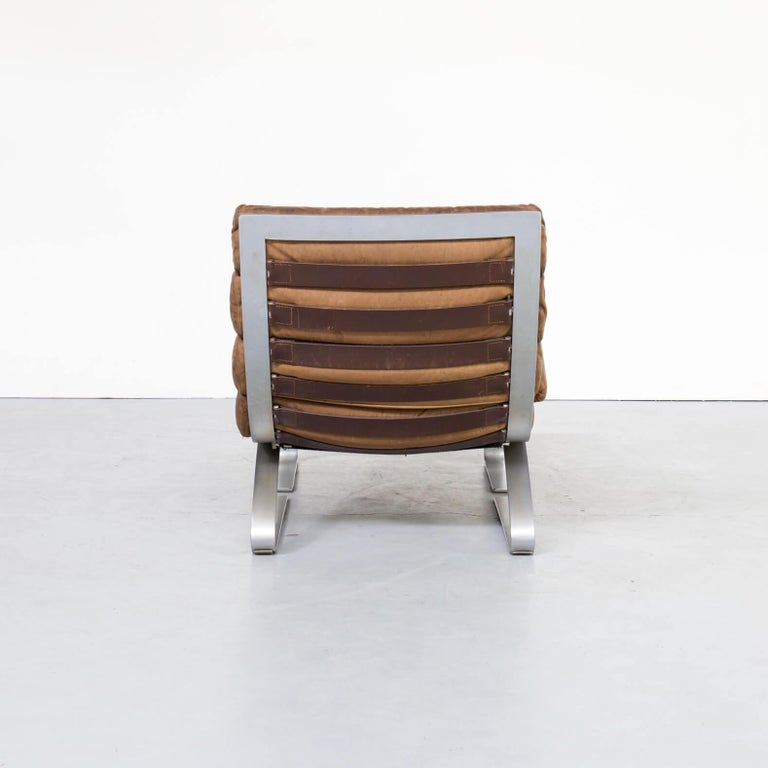 1970s Adolf & Schräpfer 'Sinus' Chair and Ottoman for COR For Sale 3