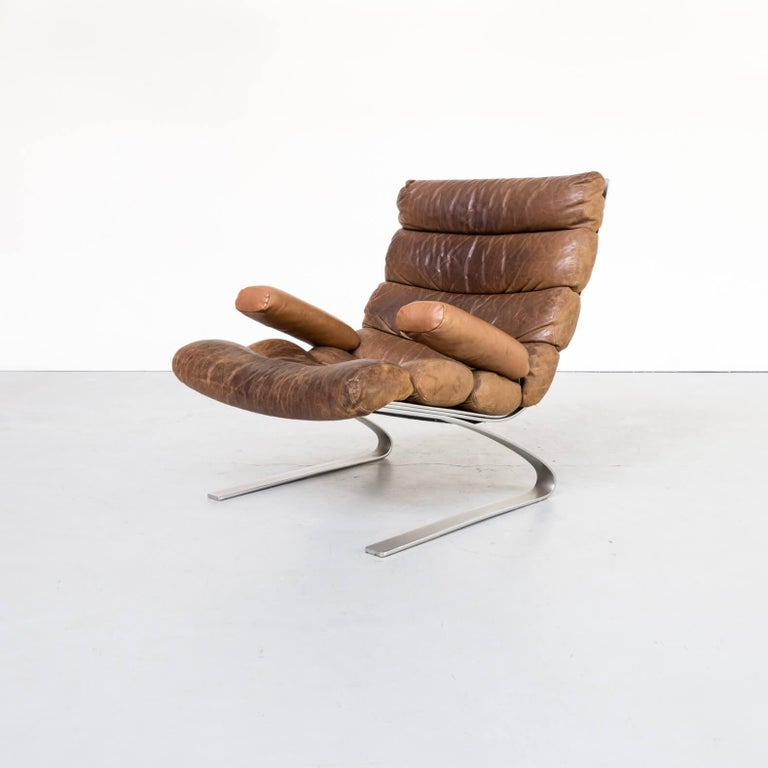 1970s Adolf & Schräpfer 'Sinus' Chair and Ottoman for COR For Sale 5