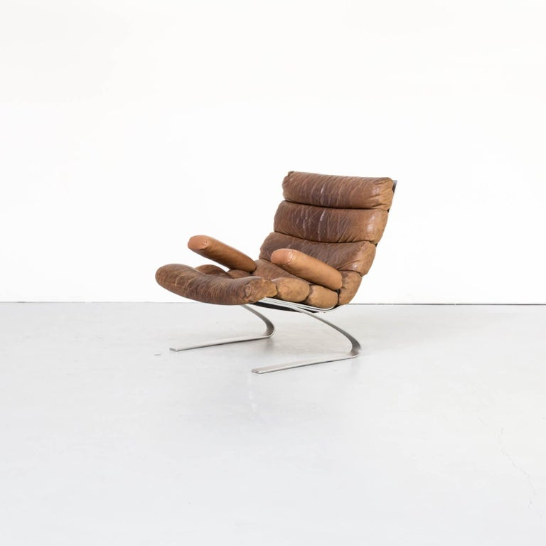 Mid-Century Modern 1970s Adolf & Schräpfer 'Sinus' Chair and Ottoman for COR For Sale