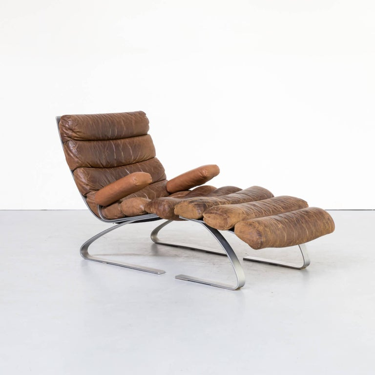1970s Adolf & Schräpfer 'Sinus' Chair and Ottoman for COR For Sale 1