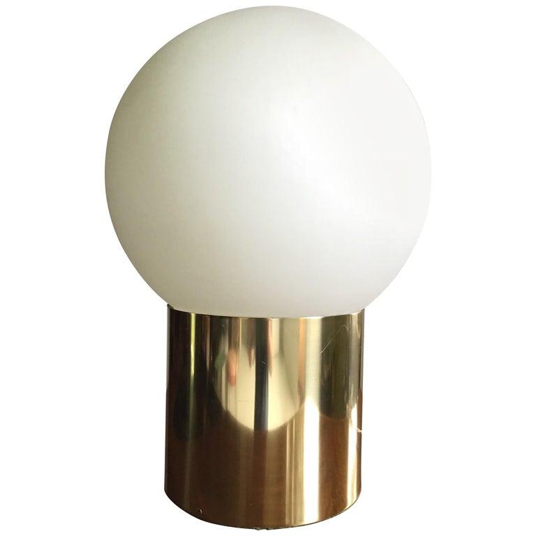 1970s Attribute Sonneman Large Globe Lamp For Sale