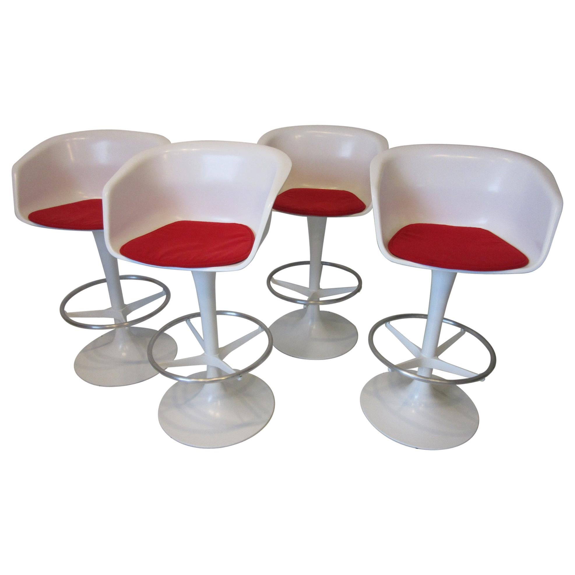 70's Bar Stools by Maurice Burke for Burke