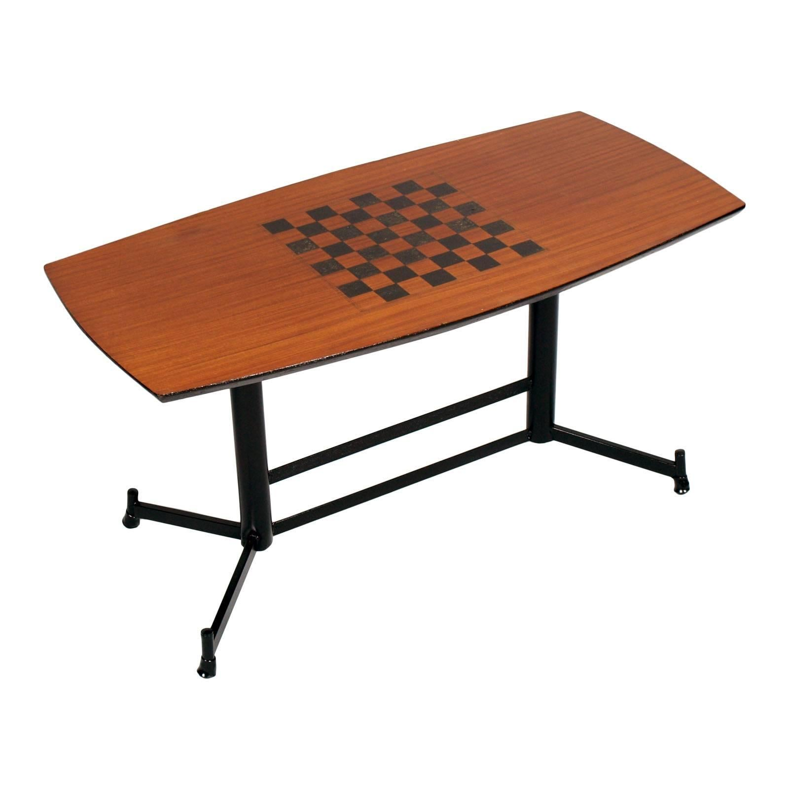 1970s Gambling Table or Coffee Table Attributed to Osvaldo Borsani for Tecno