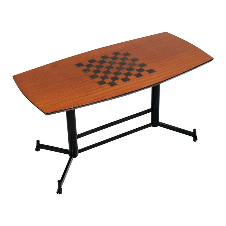1970s Gambling Table or Coffee Table Attributed to Osvaldo Borsani for Tecno