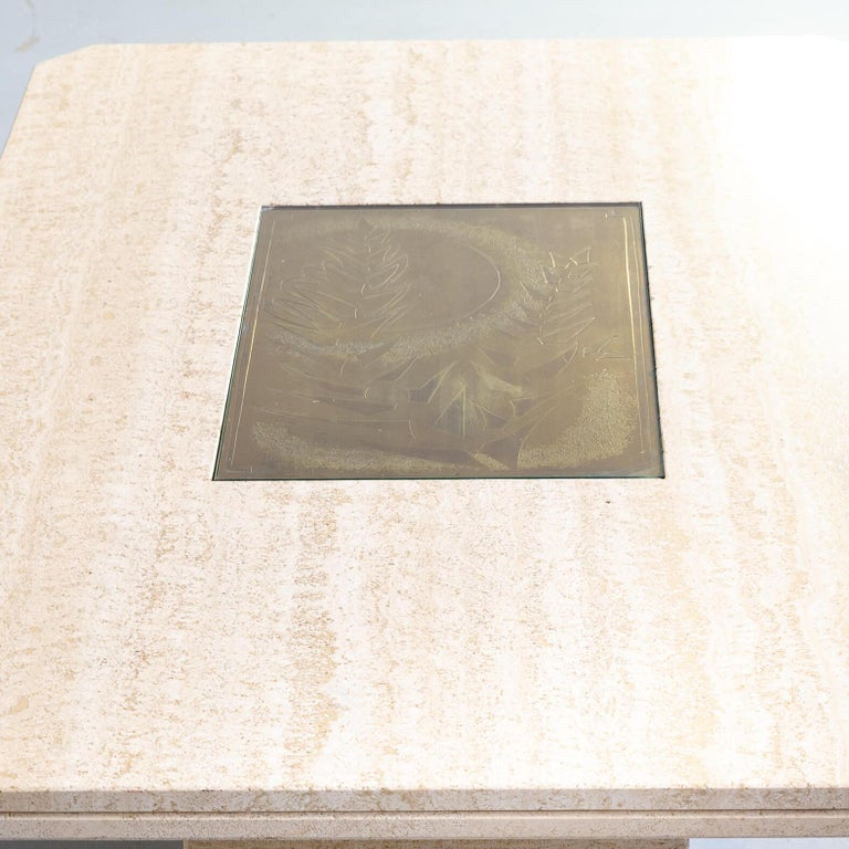 70s George Mathias Coffee Table with Etched Artwork by Maho Nr 12/50 For Sale 4