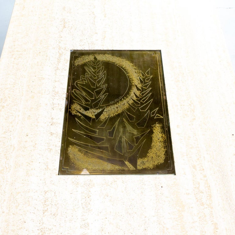 70s George Mathias Coffee Table with Etched Artwork by Maho Nr 12/50 For Sale 5