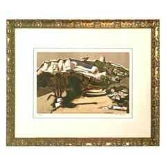 "1970'S Limited Edition Lithograph ""Le Pigeonnier"" by Jean Claude Quilici-Signed"