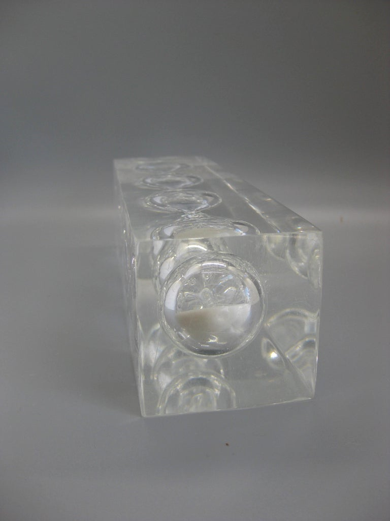 Lucite Hourglass Sand Timer Sculpture in the Manner of Charles Hollis Jones For Sale 4