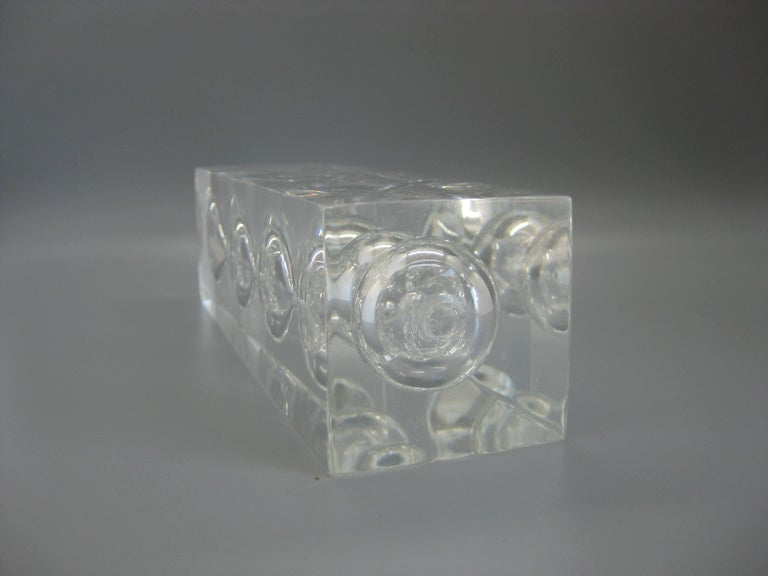 Lucite Hourglass Sand Timer Sculpture in the Manner of Charles Hollis Jones For Sale 5