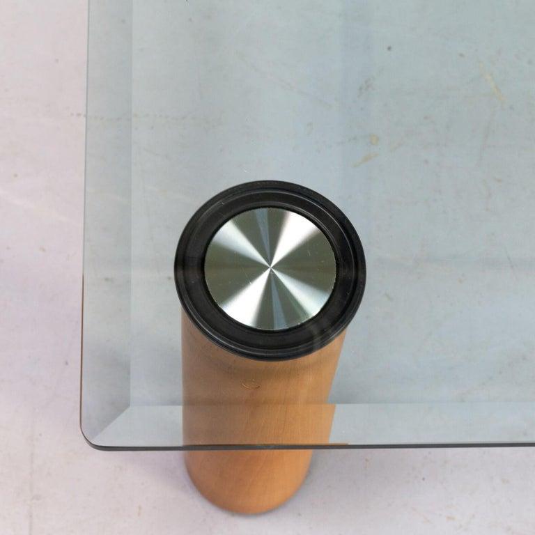 Glass 1970s Marco Zanuso 'marcuso' Coffee Table for Zanotta For Sale