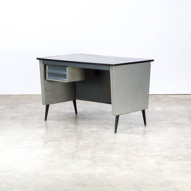 1970s Metal Writing Desk Signed Ra In Good Condition For Amstelveen Noord
