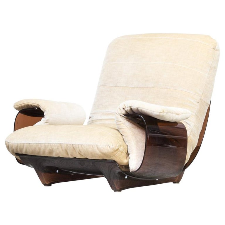 1970s michel ducaroy marsala fauteuil for ligne roset. Black Bedroom Furniture Sets. Home Design Ideas