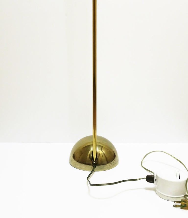 1970s Modern Brass Floor Lamp For Sale 5