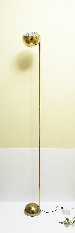 American 1970s Modern Brass Floor Lamp For Sale