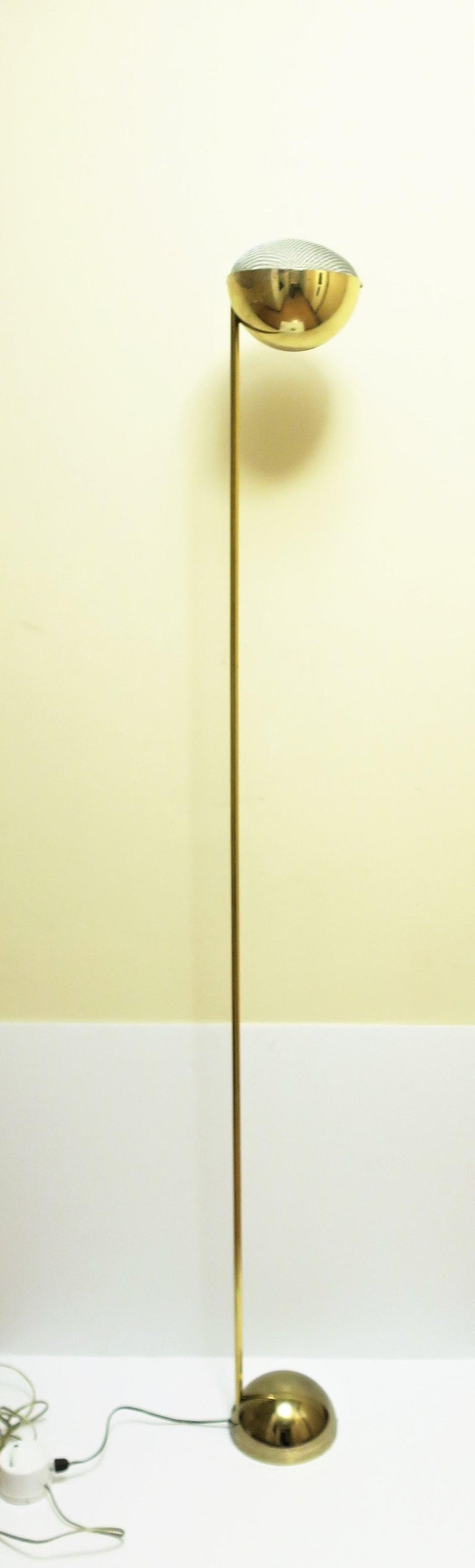 Late 20th Century 1970s Modern Brass Floor Lamp For Sale