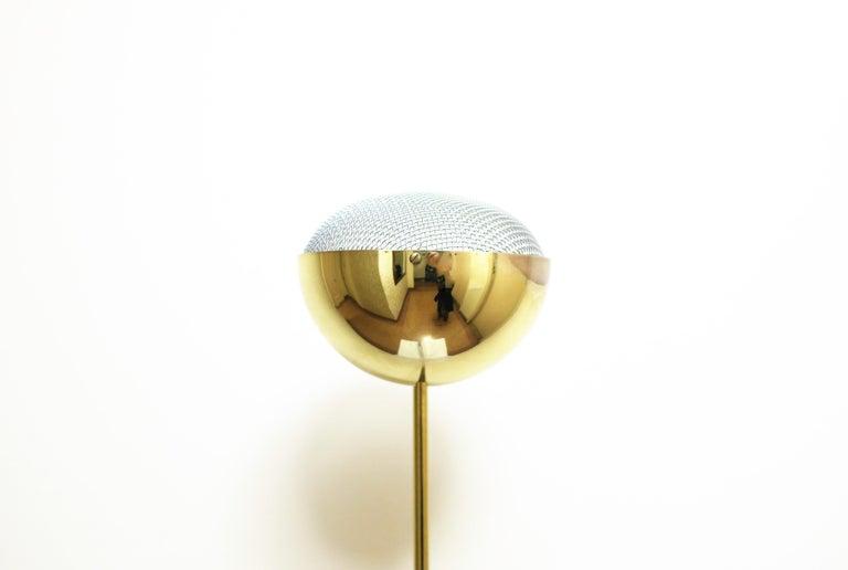 Metal 1970s Modern Brass Floor Lamp For Sale