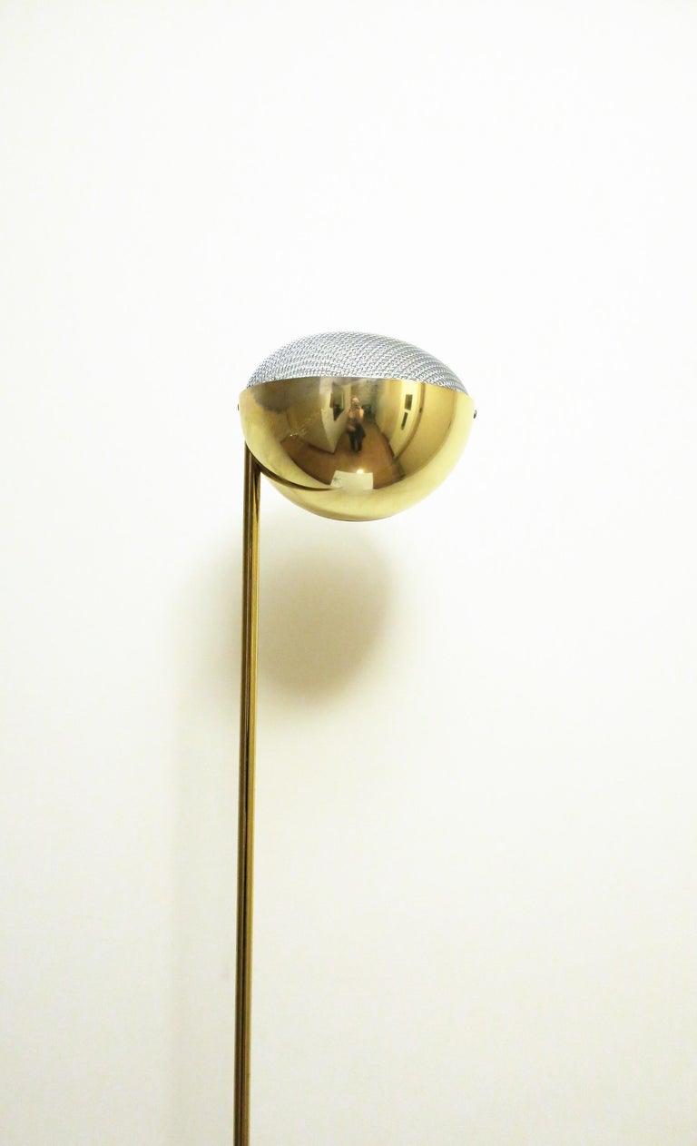 1970s Modern Brass Floor Lamp For Sale 1