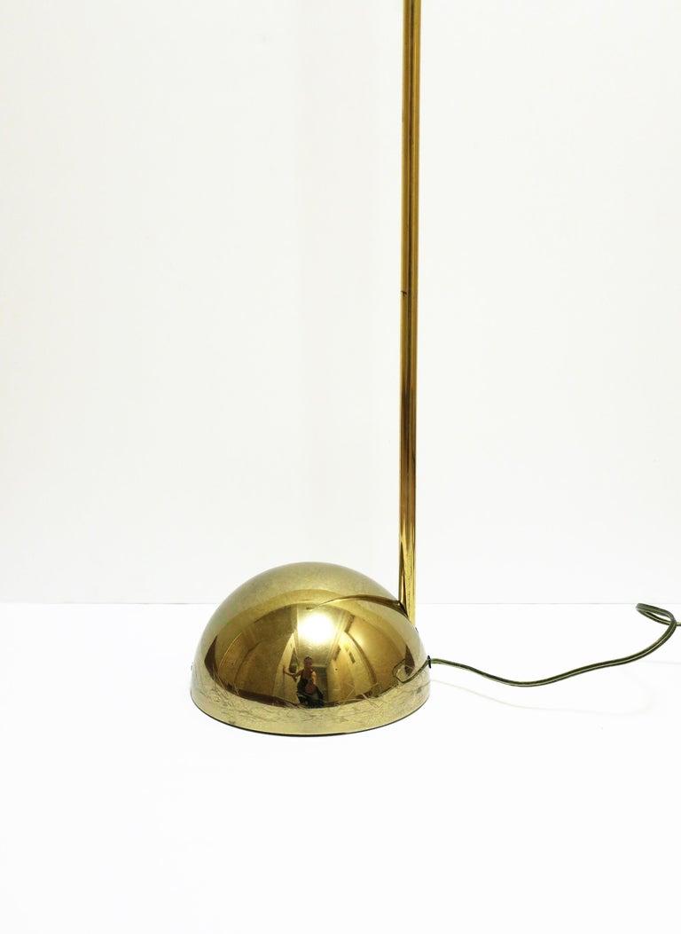 1970s Modern Brass Floor Lamp For Sale 2