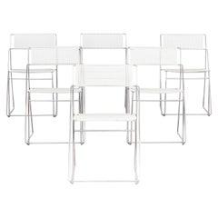 1970s Niels Jorgen Haugesen 'Nuova' Stackable Chairs for Hybodan Set of 6