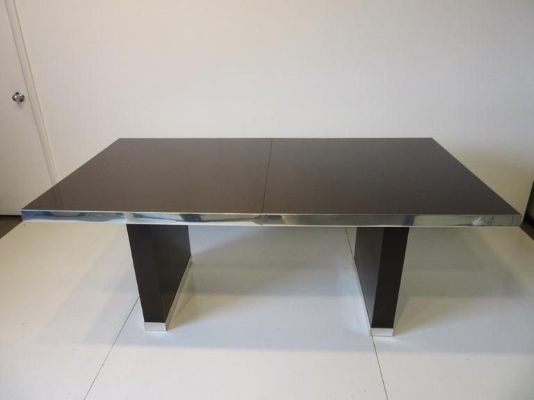 Modern 70's Pierre Cardin Pedestal Dining Table For Sale