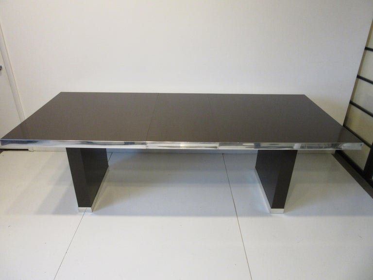 American 70's Pierre Cardin Pedestal Dining Table For Sale
