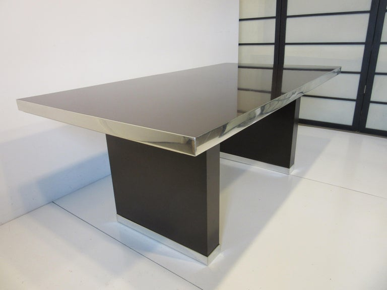 20th Century 70's Pierre Cardin Pedestal Dining Table For Sale