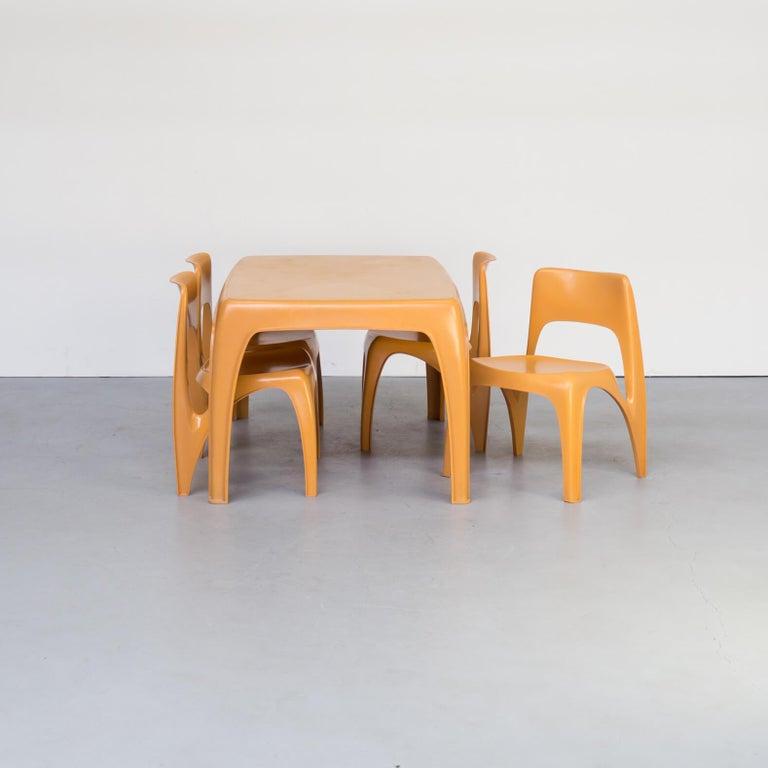 Mid-Century Modern 1970s Preben Fabricius Design Dining Table Set for Interplast For Sale