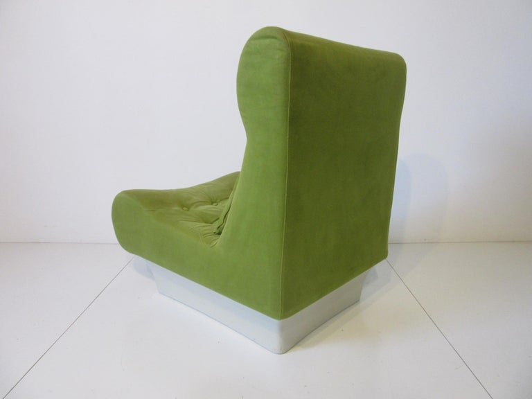 Fiberglass 1970s Space Age 3-Piece Sofa or Loveseat in the Style of Luigi Colani For Sale