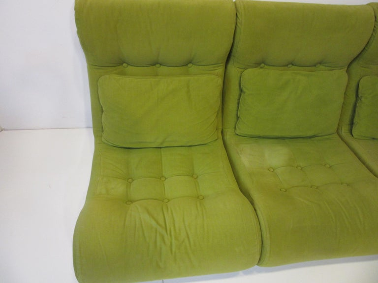 1970s Space Age 3-Piece Sofa or Loveseat in the Style of Luigi Colani For Sale 3