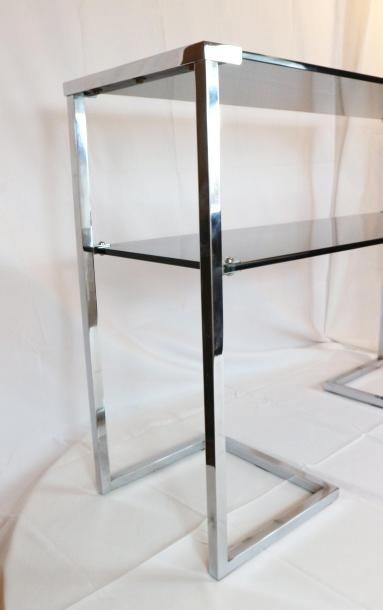 1970s Steel Chromed Console Design Desoko, Made in Italy 2