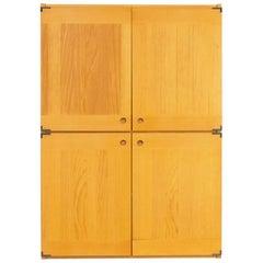 70s Wooden Four Door Cabinet for Ibisco