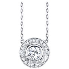 .71 Carat Diamond Platinum Necklace