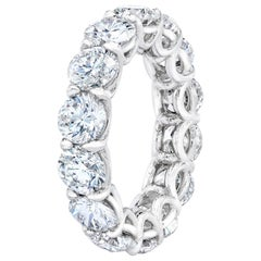 7.12 Carat Round Brilliant Diamond Eternity Ring Band