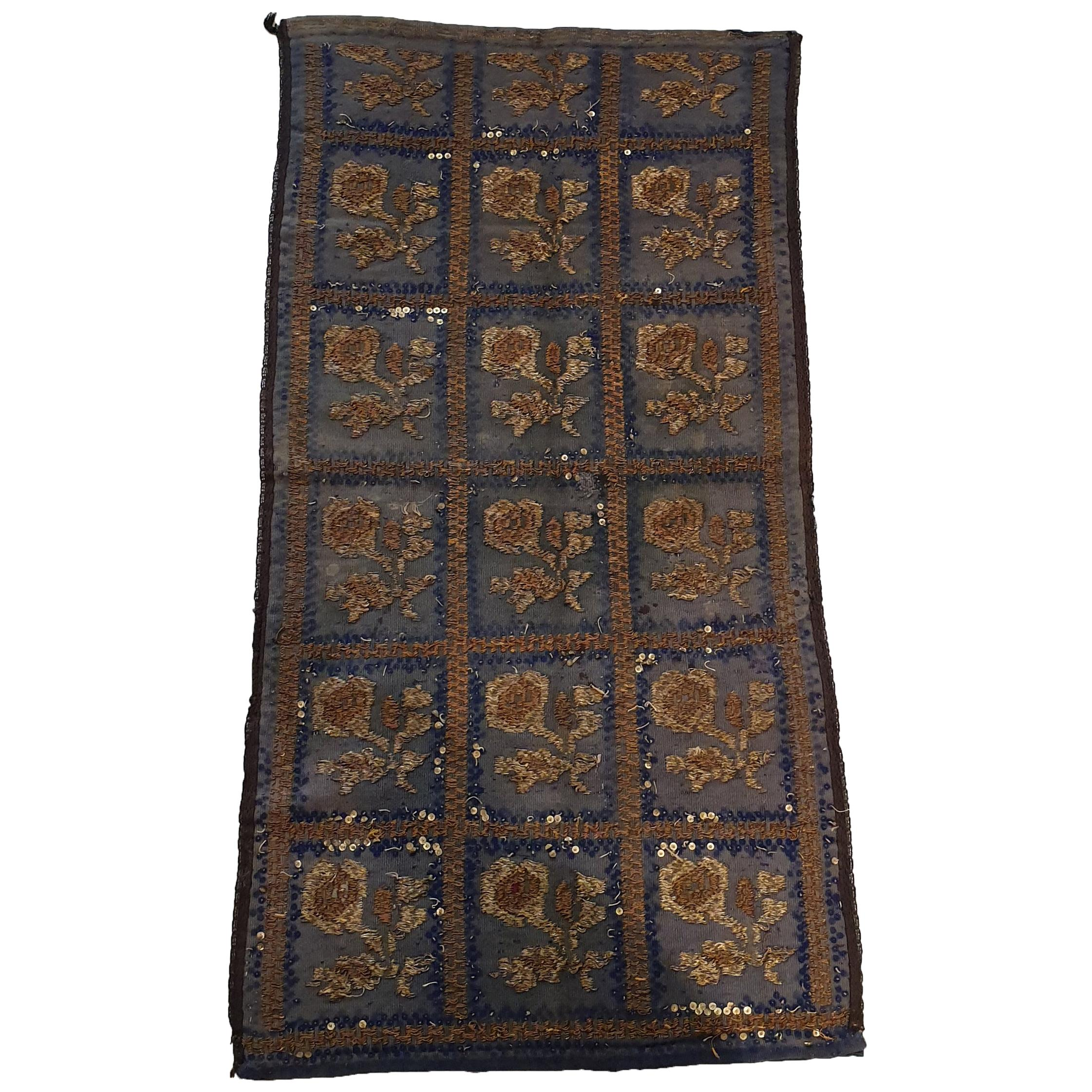 714 - Beautiful Antique Turkish Ottoman Embroidery