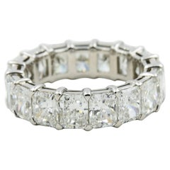 7.15 Carat Radiant Diamond Eternity Band by Norman Silverman in Platinum