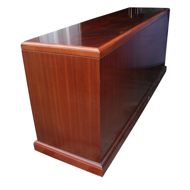 Mid-Century Modern ICF Helikon Flame Mahogany Credenza For Sale