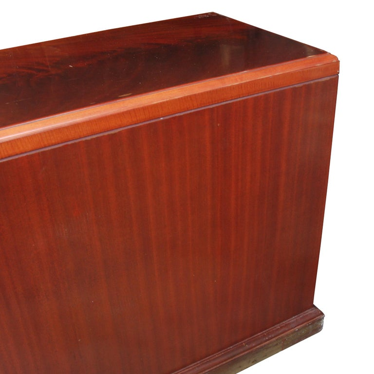 20th Century ICF Helikon Flame Mahogany Credenza For Sale