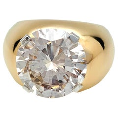 7.18 Carat Brilliant Cut Diamond Dome Ring
