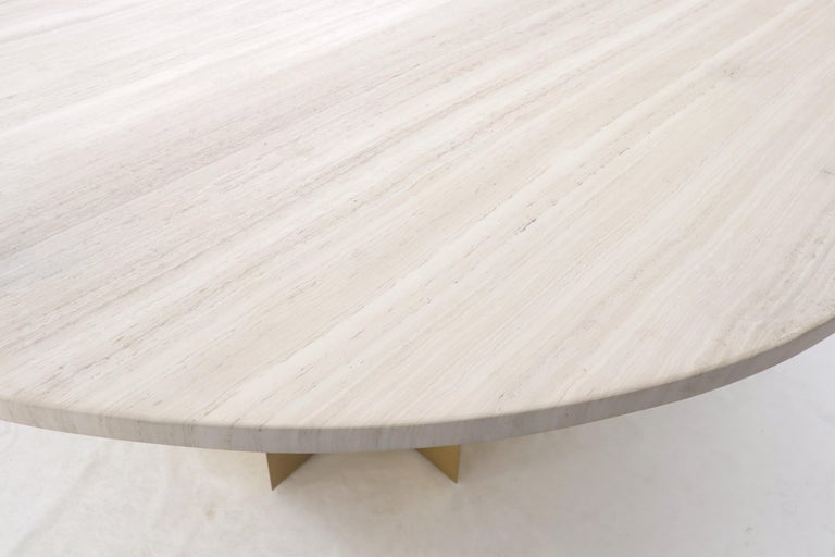 72 Diameter 1 Travertine Marble Top, 72 Inch Round Conference Table