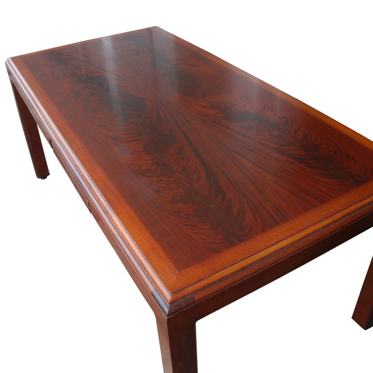 Mid-Century Modern ICF Helikon Flame Mahogany Table Desk For Sale