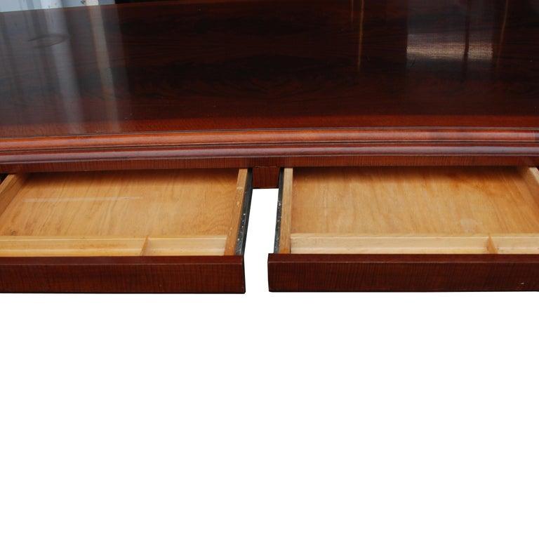 American ICF Helikon Flame Mahogany Table Desk For Sale