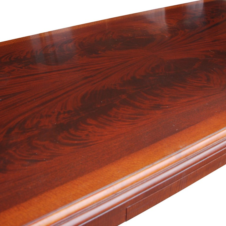 ICF Helikon Flame Mahogany Table Desk In Good Condition For Sale In Pasadena, TX