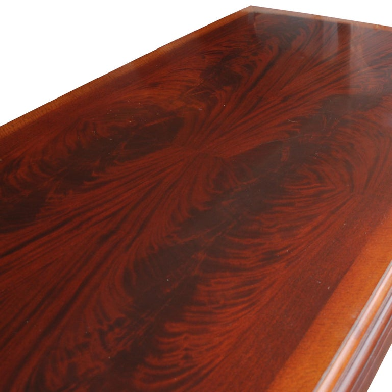 Late 20th Century ICF Helikon Flame Mahogany Table Desk For Sale