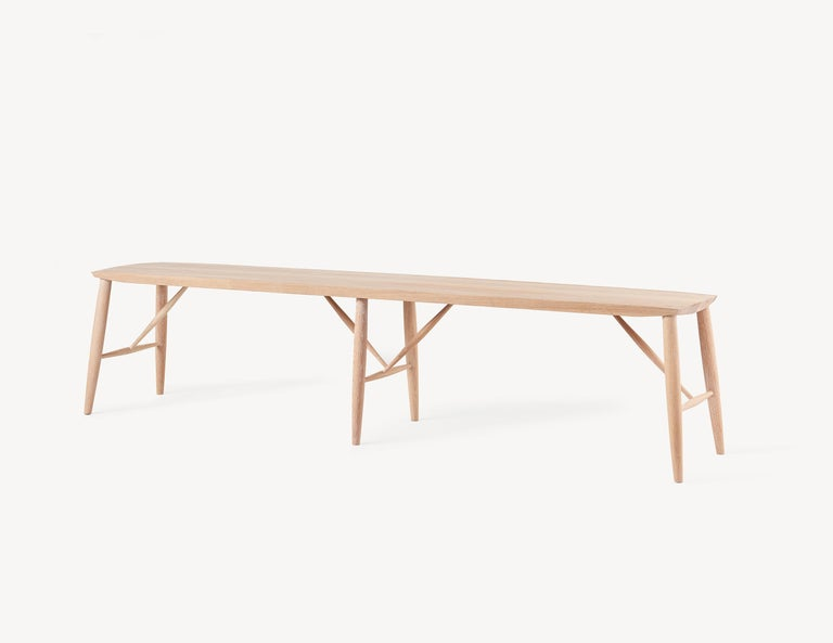 A versatile and durable bench suitable for a variety of applications including extra seating, hall entrance bench or even a narrow coffee table. The Adelaide bench is a welcome addition to any home. It is handcrafted with solid white oak and