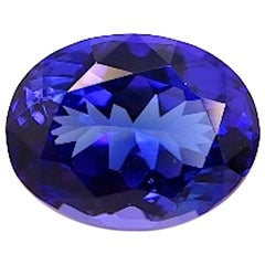 7.20 Carat Tanzanite Oval, Unset Loose 3-Stone Engagement Ring Pendant Gemstone