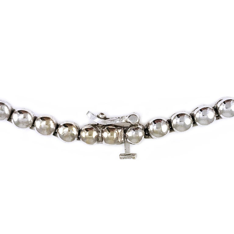 7.20 Carat Two-Tone Diamond Necklace For Sale 1