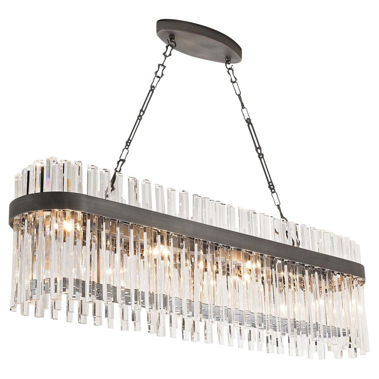 7210/S Elongated Suspension Lamp For Sale
