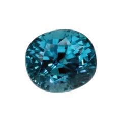 7.24 Carat Natural Blue Zircon