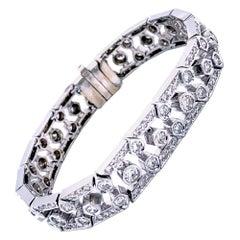 7.25 Carat Antique Design Diamond Tennis Bracelet